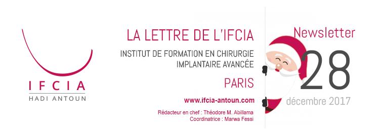 La Lettre de l'IFCIA - Dr Hadi Antoun, Paris - Décembre 2018